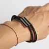 Men's Three Bar Bracelet on Wrist