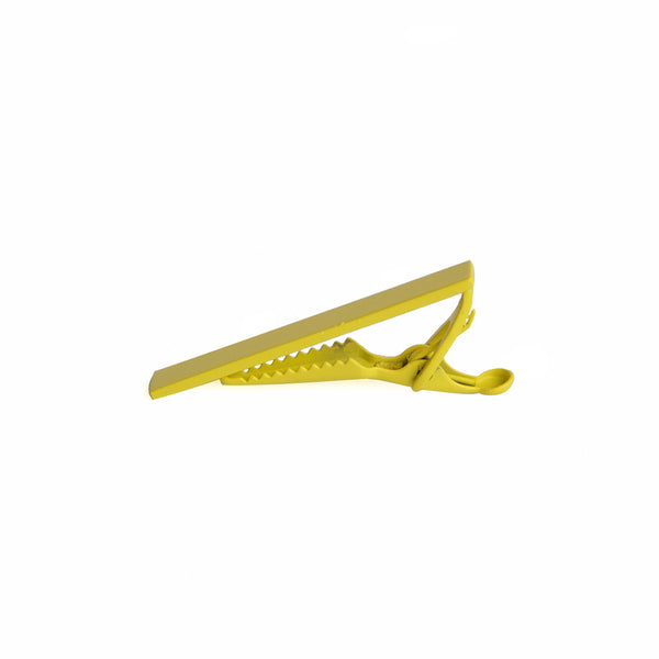 Men's Color Tie Clip - yellow