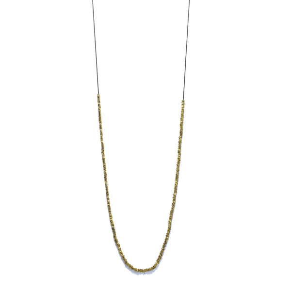 Brass beaded Long Necklace