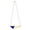 Brass Triangle and Enamel Necklace - Blue Closure