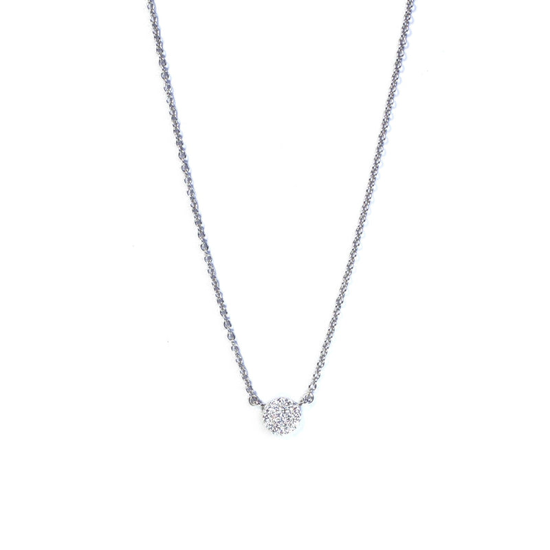 SM Pave Disk Necklace