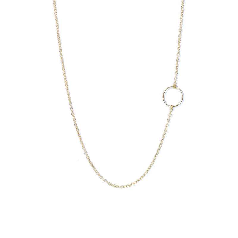 Different view of Gold Geometry Circle Necklace