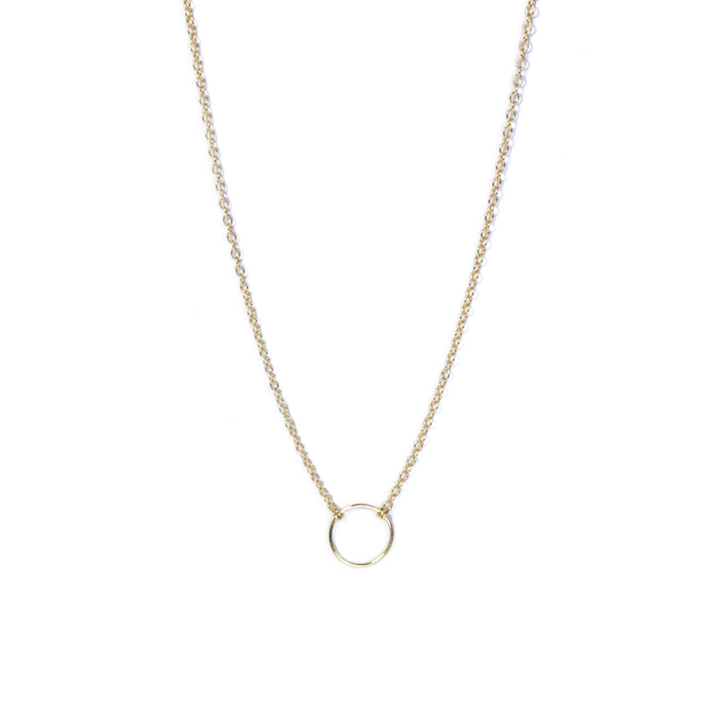 Gold Geometry Circle Necklace