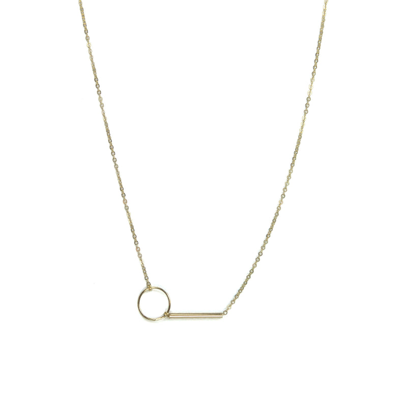 Gold Filled Circle and Bar Necklace Alternate