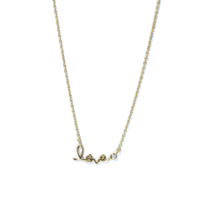 Gold Small Love Necklace