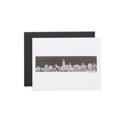 Postcard with New York City Skyline as Artwork