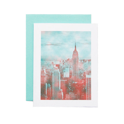 Postcard with a Photograph of New York City Buildings as Artwork