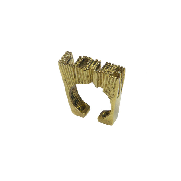 Brass 3d love ring