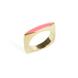 Square Enamel Ring