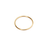 Plain yellow gold ring