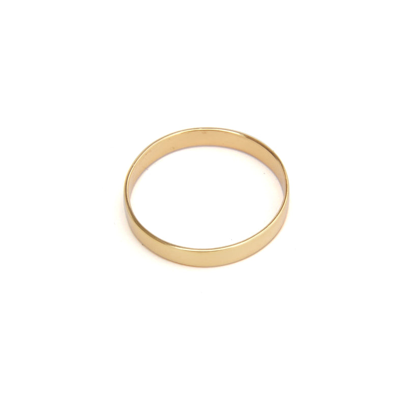 Plain 3mm plain band yellow gold ring