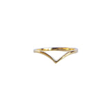 Yellow gold V ring