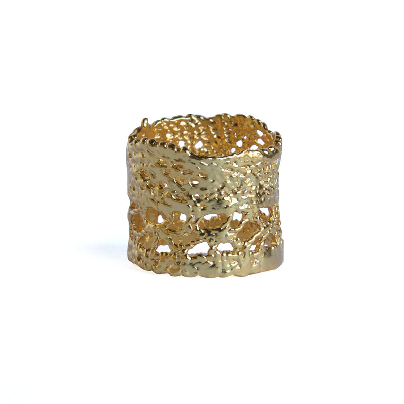 Yellow gold Lace Ring