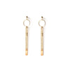 Ball and Drop Bar Earrings