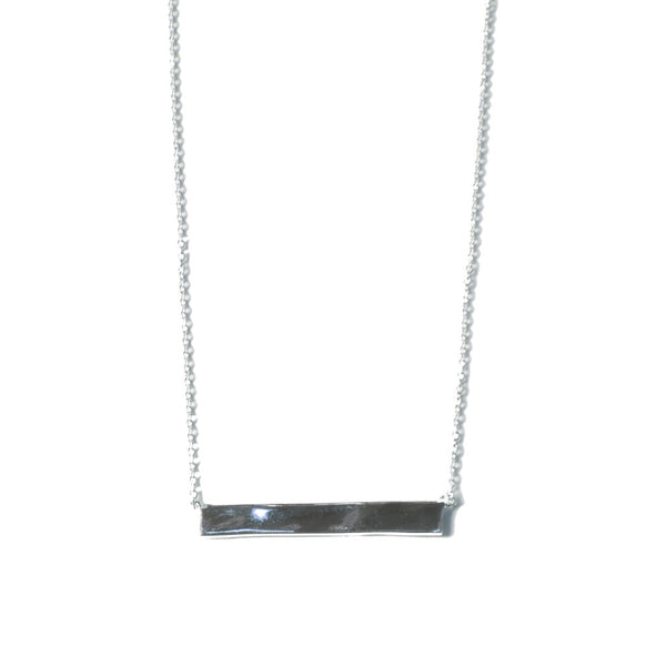 Large Bar Necklace | Silver