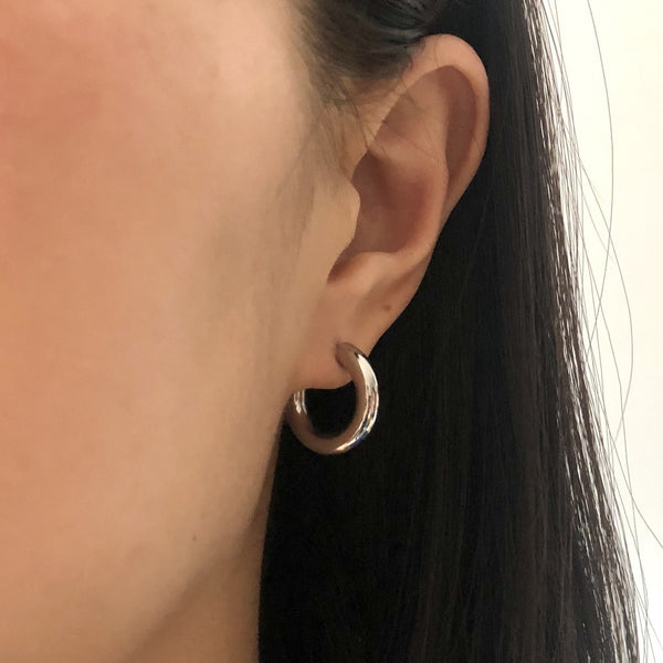 Small Tube Hoop Studs