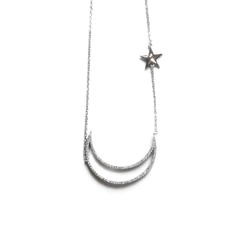 Moon & Star Necklace