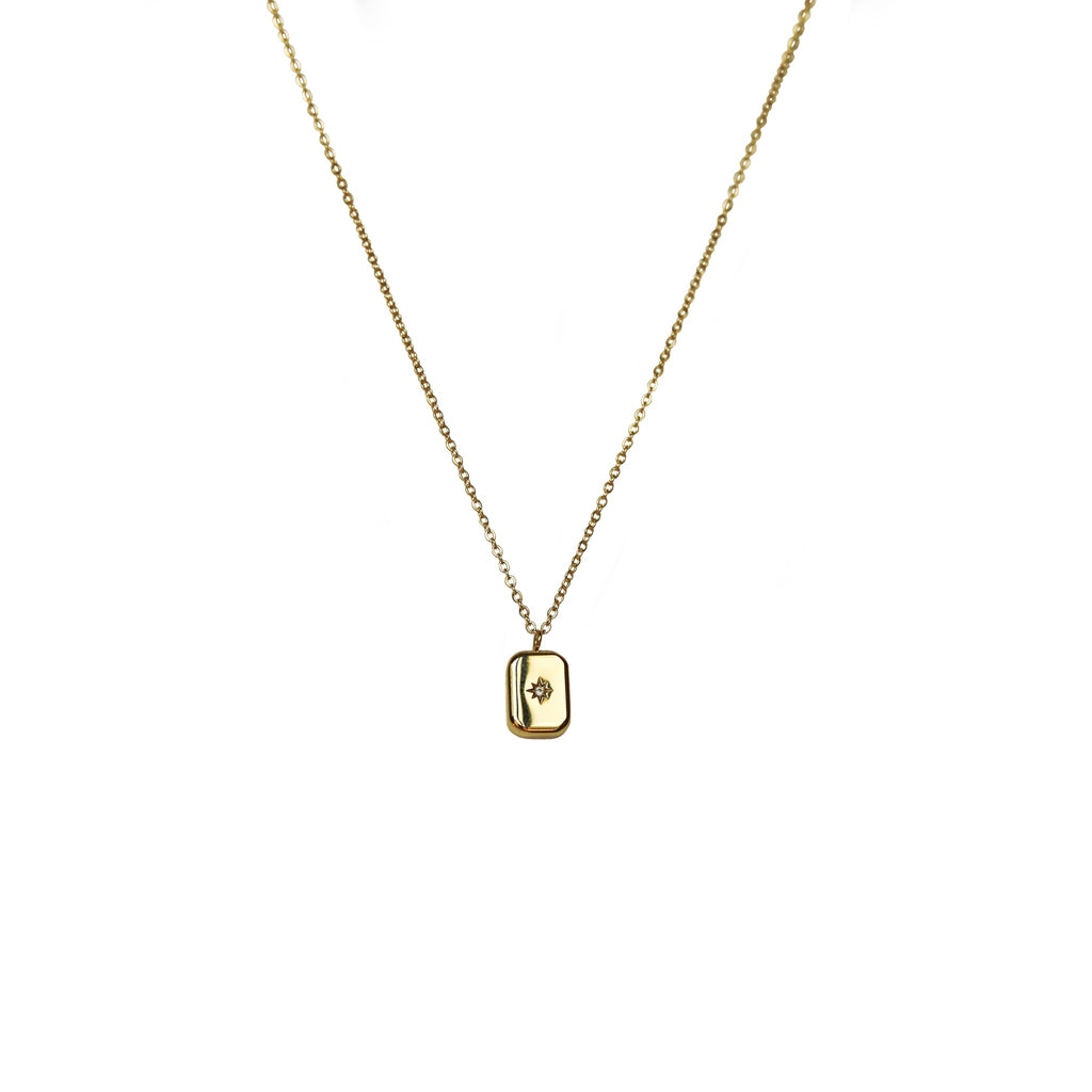 Star in a box Necklace | Gold