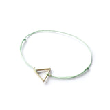 Triangle Brass Bracelet | Mint