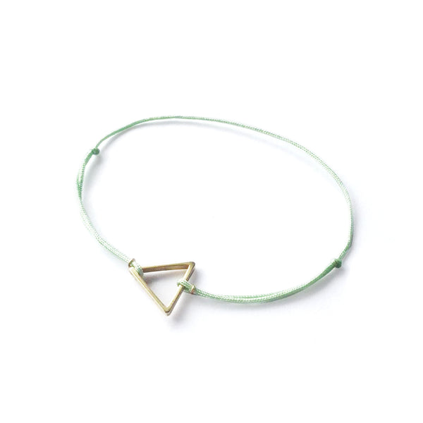 Triangle Brass Charm | Mint