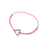 Triangle Brass Bracelet | Hot Pink