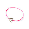 Triangle Brass Charm | Hot Pink