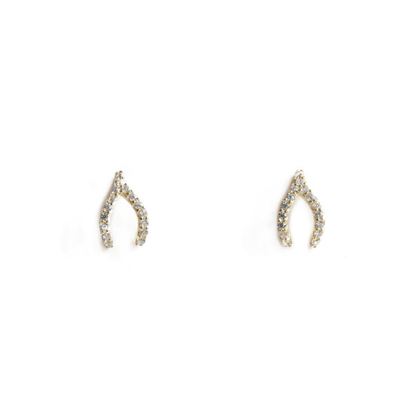 Sparkle Wishbone Studs