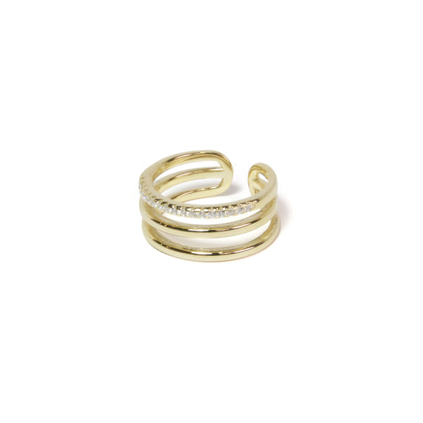 Pave Triple Ring
