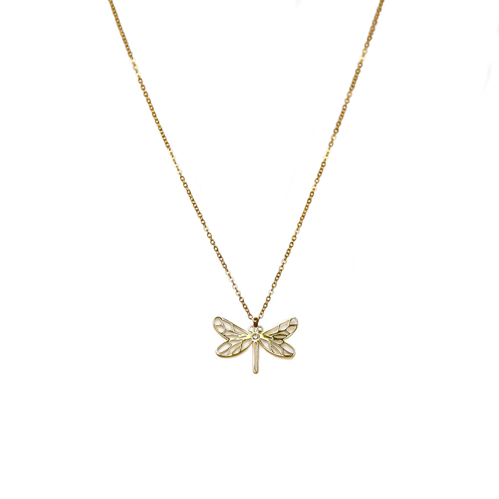 Dragonfly Necklace | Gold