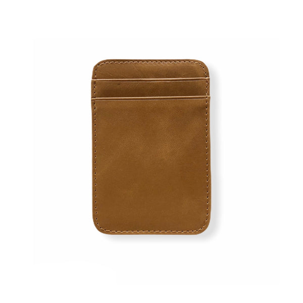 Fine Leather Card Wallet | Camel