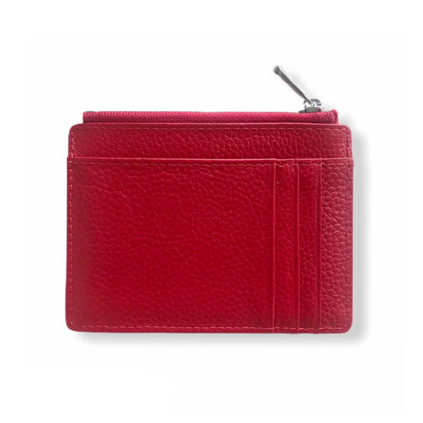 Leather Smart Wallet | Red