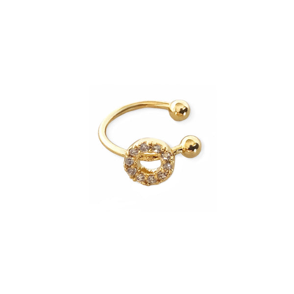 Crystal Open Circle Ear-cuff