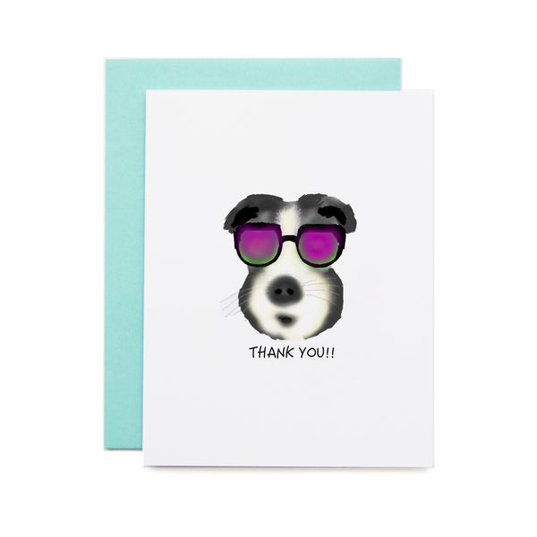 Cool Dog Thank you Card