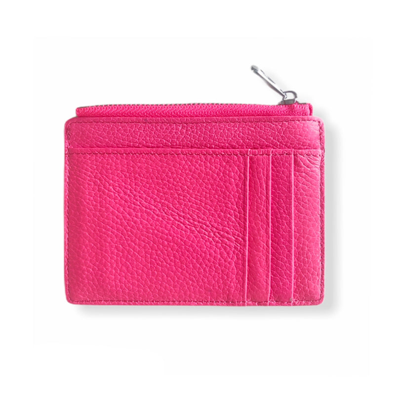 Leather Smart Wallet | Neon Pink