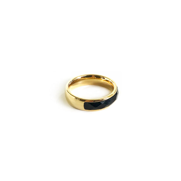 Black Jewel Band Ring