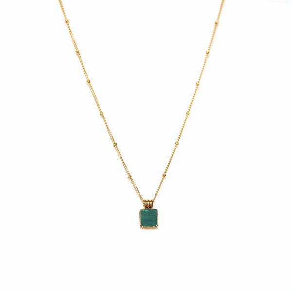 Square Malachite Necklace