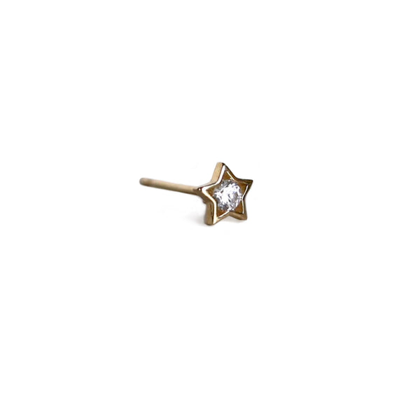 Star Crystal Stud | 14K Gold