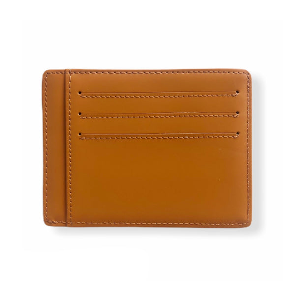 Leather Card Wallet | Mustard
