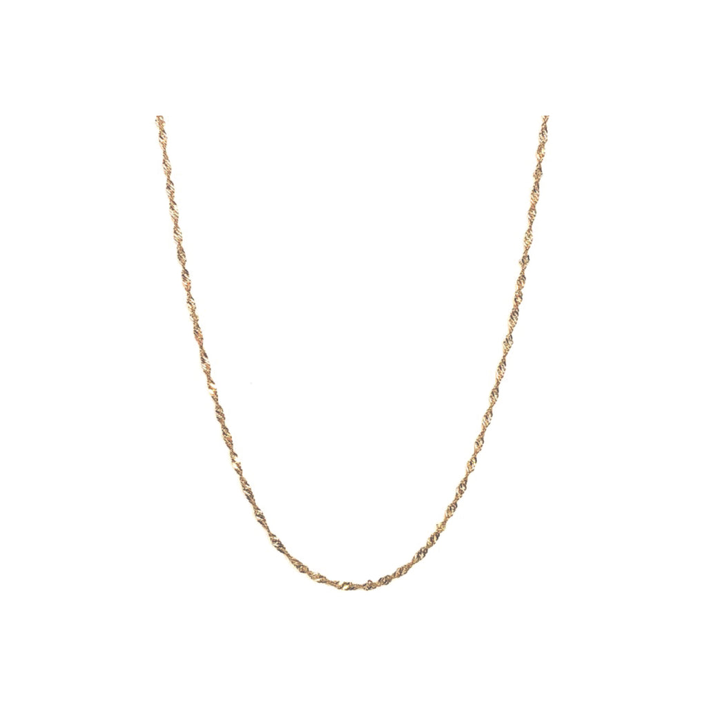 Twisted Chain Necklace | Gold