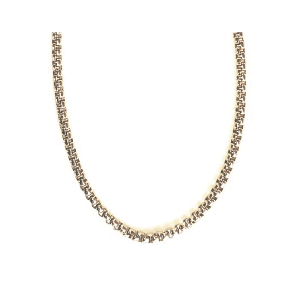 Bulk Round box Chain Necklace | Gold