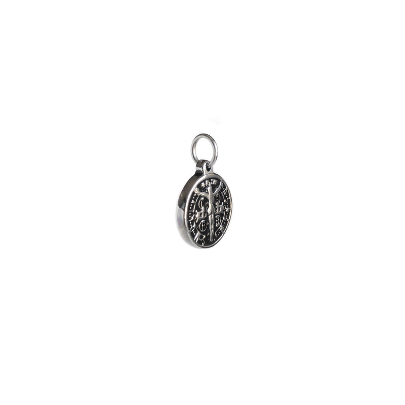 Black and Silver Jesus Pendant