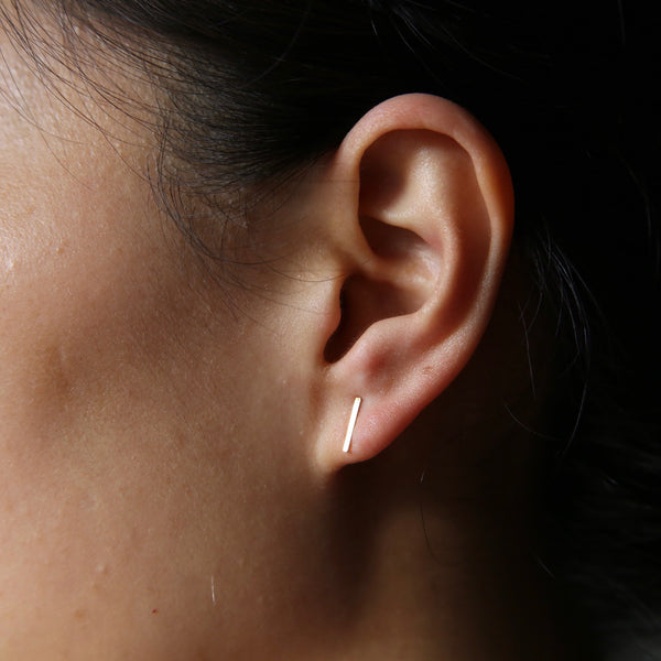 Bar Stud | 14K Gold