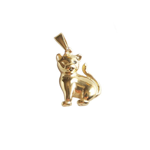 Cat Pendant | Gold