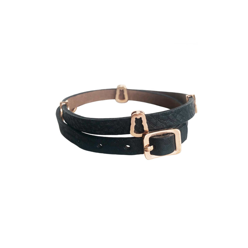 Bear Wrap Leather Bracelet