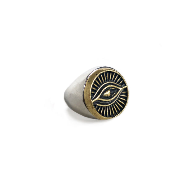 Eye Signet Ring | Silver