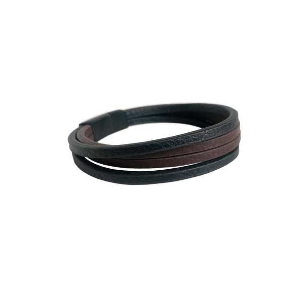 Stacked Leather Bracelet