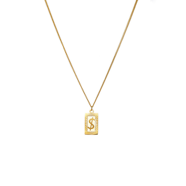 Dollar Sign Necklace | Gold