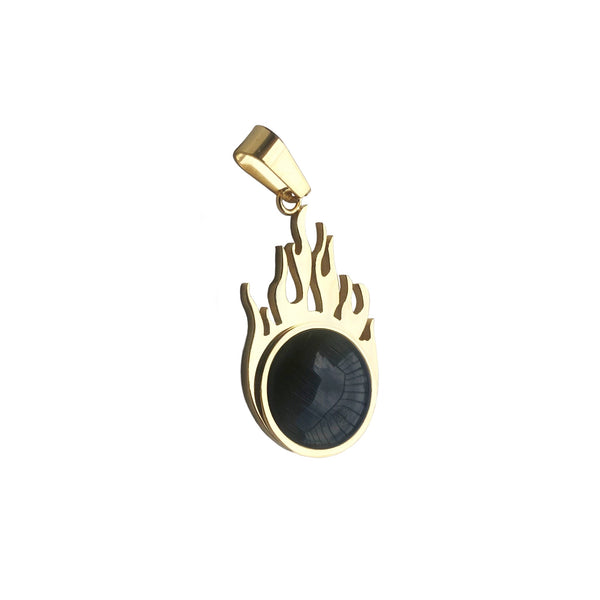 Fire Black Onyx Pendant