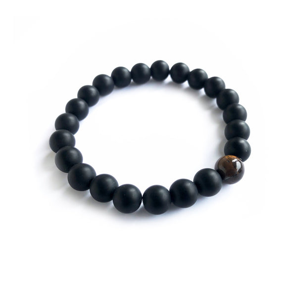 Spiritual Beads Tiger Eye Bracelet | Black