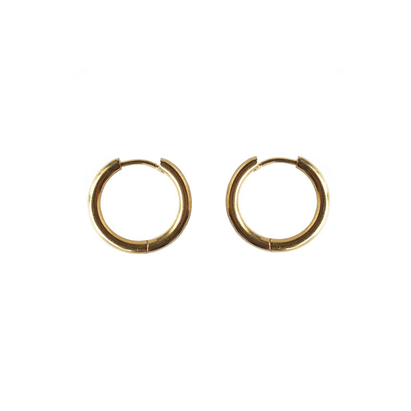 Large Tube Hoops | Gold